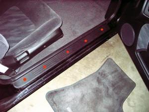 Nissan 240SX S14 Remove Door Sill