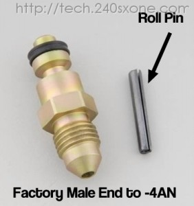 LS1 into 240sx: T-56 Roll Pin Slave Fitting -4AN