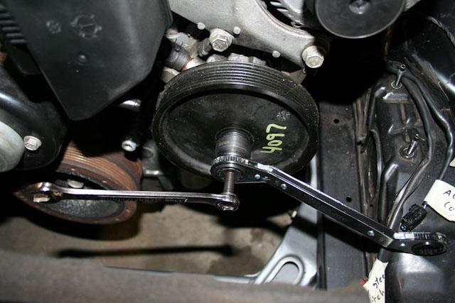 240sxONE Tech » Blog Archive » LSx: Power Steering Pump Reducer Install